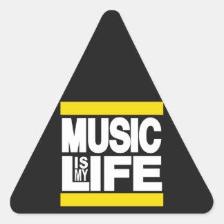 La musique est mon jaune de la vie stickers en triangle