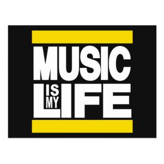 La musique est mon jaune de la vie carte postale