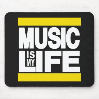 La musique est mon jaune de la vie tapis de souris
