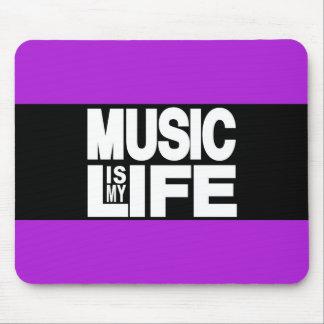 La musique est mon pourpre de la vie tapis de souris