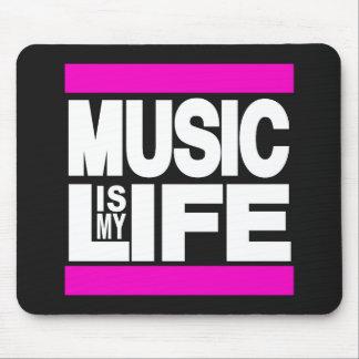 La musique est mon rose de la vie tapis de souris