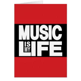 La musique est mon rouge de la vie carte de vœux