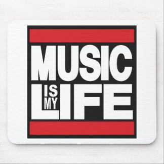 La musique est mon rouge de la vie tapis de souris