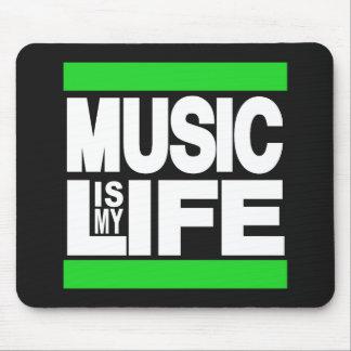 La musique est mon vert de la vie tapis de souris