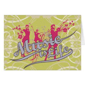 La musique est T-shirts et cadeaux de la vie Carte De Vœux