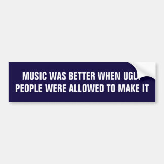 La musique était meilleure quand les personnes autocollant de voiture