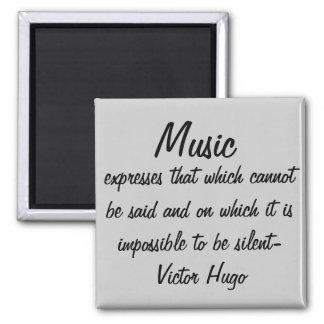 La musique exprime… magnet carré