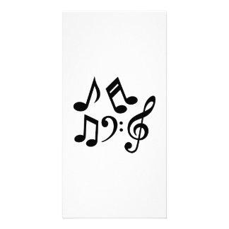 La musique note la clef cartes avec photo