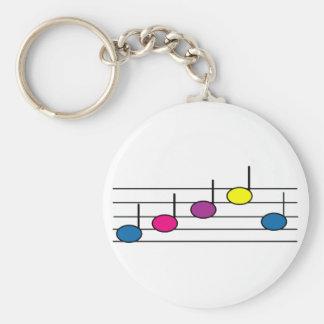 La musique note le porte - clé porte-clé rond
