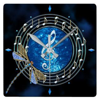La musique note l'horloge horloge carrée
