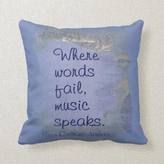 La musique parle--  Dites-la avec des coussins