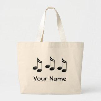 La musique personnalisée note le sac fourre-tout