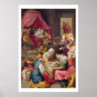 La naissance de la Vierge, 1640 (huile sur la toil Posters