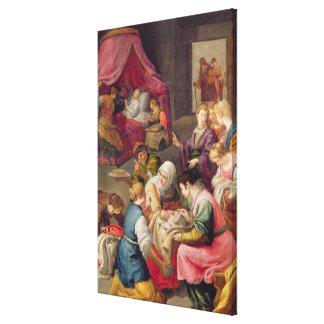 La naissance de la Vierge, 1640 (huile sur la toil Impressions Sur Toile