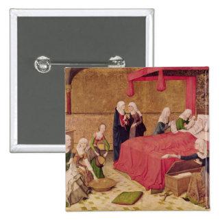 La naissance de la Vierge Badge Carré 5 Cm