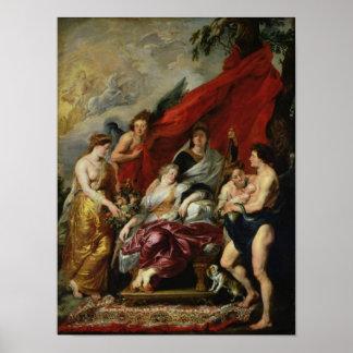 La naissance de Louis XIII à Fontainebleau Affiche
