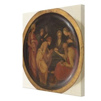 La naissance de St John le baptiste, c.1526 (huile Toiles Tendues Sur Châssis
