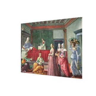 La naissance de St John le baptiste (fresque) (voi Toiles