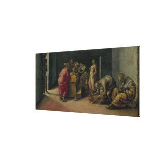 La naissance de St John le baptiste (huile sur le  Toile Tendue