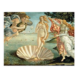 La naissance de Vénus, c.1485 (tempera sur la Carte Postale