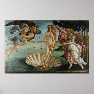 La naissance de Vénus (par Sandro Botiicelli) Poster