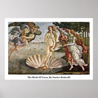 La naissance de Vénus. Par Sandro Botticelli Poster