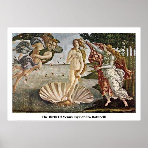 La naissance de Vénus. Par Sandro Botticelli Posters