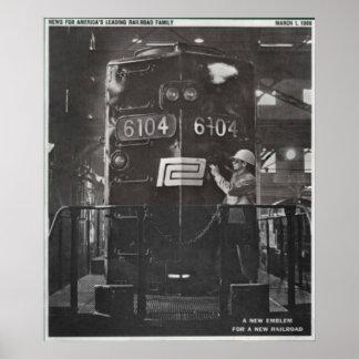 La naissance du chemin de fer de central de Penn Poster
