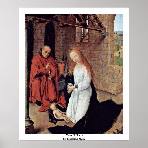 La naissance du Christ par Memling Hans Posters
