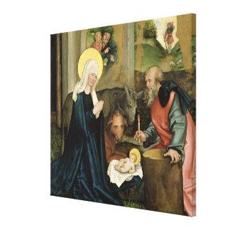 La naissance du Christ Toile Tendue