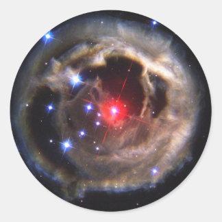 La NASA d'étoile de V838 Monocerotis Sticker Rond