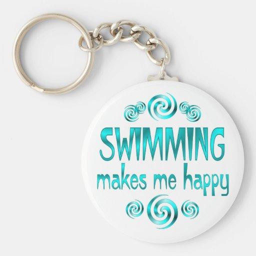 La natation me rend heureux porte-clef