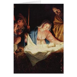 La nativité de Jésus - Gerard van Honthorst Cartes