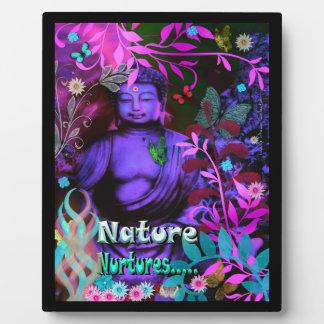 La nature consolide la plaque d'image de Bouddha