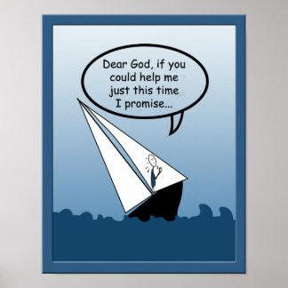 La navigation bascule la chère affiche de voilier