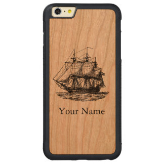 La navigation nautique vintage a personnalisé la coque carved® pare-chocs en cerisier pour iPhone 6