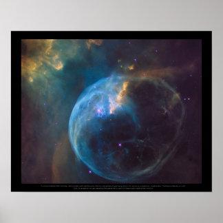 La nébuleuse de bulle, ou NGC 7635 Poster
