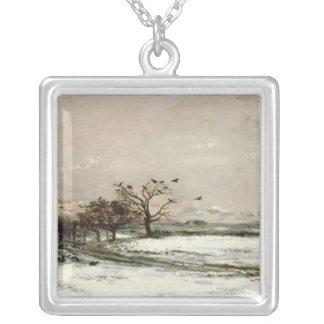 La neige, 1873 pendentif carré