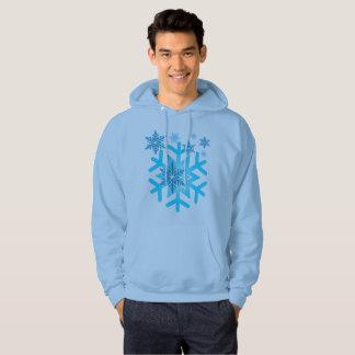 La neige bleue s'écaille le sweatshirt à capuchon