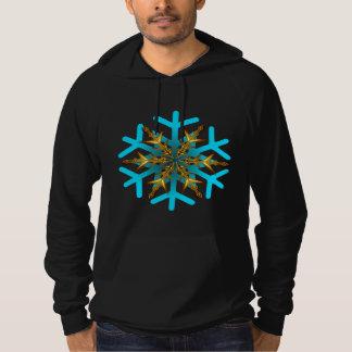 La neige s'écaille sweat - shirt à capuche de pull