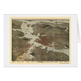 La Norfolk, carte panoramique de VA - 1891