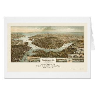 La Norfolk, carte panoramique de VA - 1892