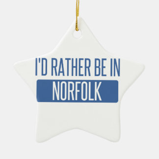 La Norfolk Ornement Étoile En Céramique