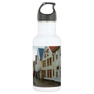 La Norvège, Bergen, les maisons en bois et les