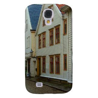 La Norvège, Bergen, les maisons en bois et les pav