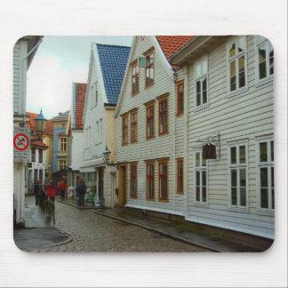 La Norvège, Bergen, rue pavée en cailloutis Tapis De Souris