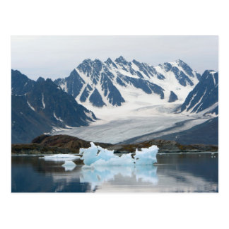 La Norvège, le glacier de recul et l'iceberg Carte Postale