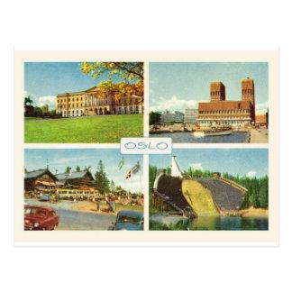 La Norvège vintage, Oslo, multiview Cartes Postales