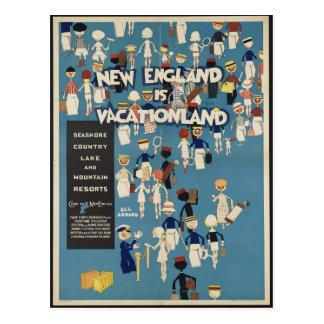 La Nouvelle Angleterre est carte postale de