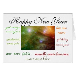 La nouvelle année du monde cartes